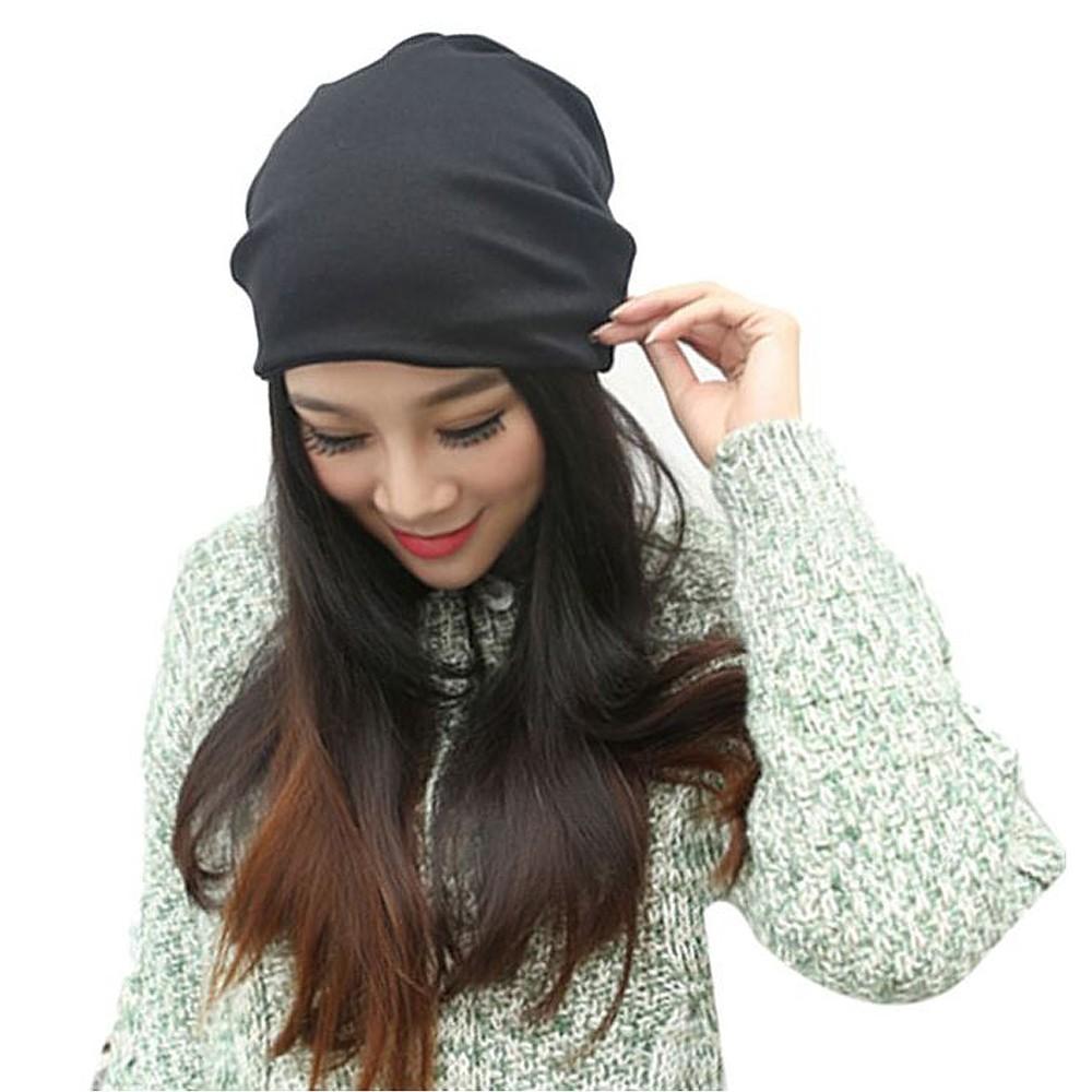 Черная трикотажная шапка
